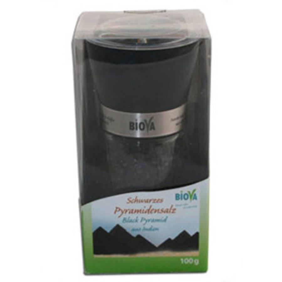 zoutmolen met zwart piramidezout 100 gram