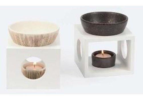Nutrikraft aromalamp wit met bamboe-patroon