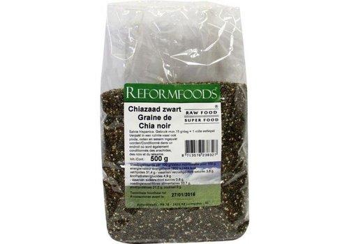 Reformfoods Reformfoods rawfood chia zaad zwart 500 gram