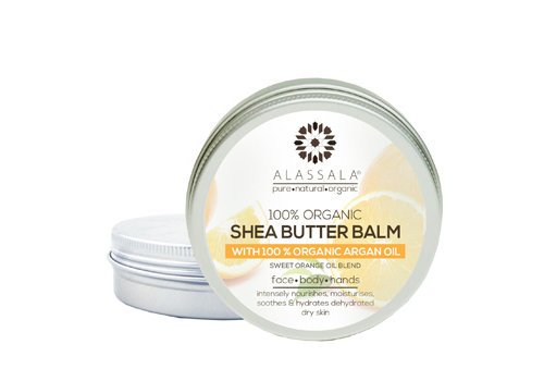 Alassala Shea boter balm 100 % Bio argan olie en Orange - 50 ml