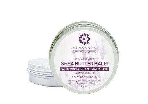Alassala Shea boter balm 100% Bio Argan olie en Lavendel - 50 ml