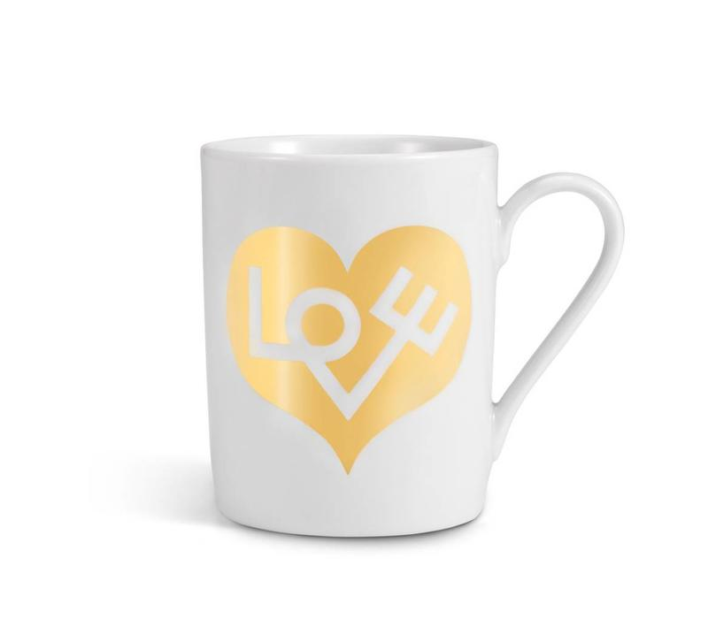 Coffe Mug Love Goud