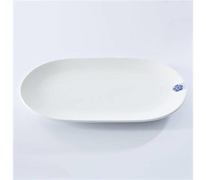 Touch of Blue Plate Oval set van 2