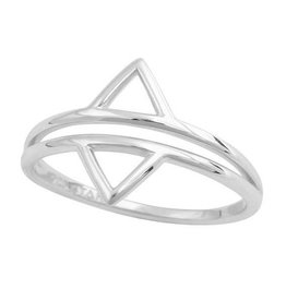 Midsummer Star Double Triangle Ring