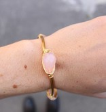 Boho Babes Pink Gold wired bangle