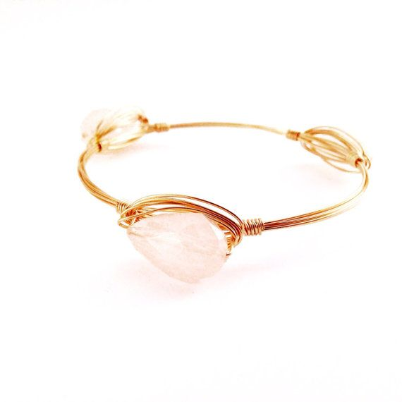 Boho Babes Pink Gold Wirred bangle