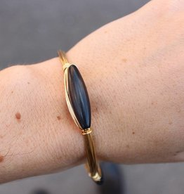 Boho Babes Black oval bangle