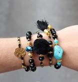 Boho Babes Majou Turquoise Black Bracelet