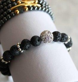 Sangie Palm Beach Lava Bead armband
