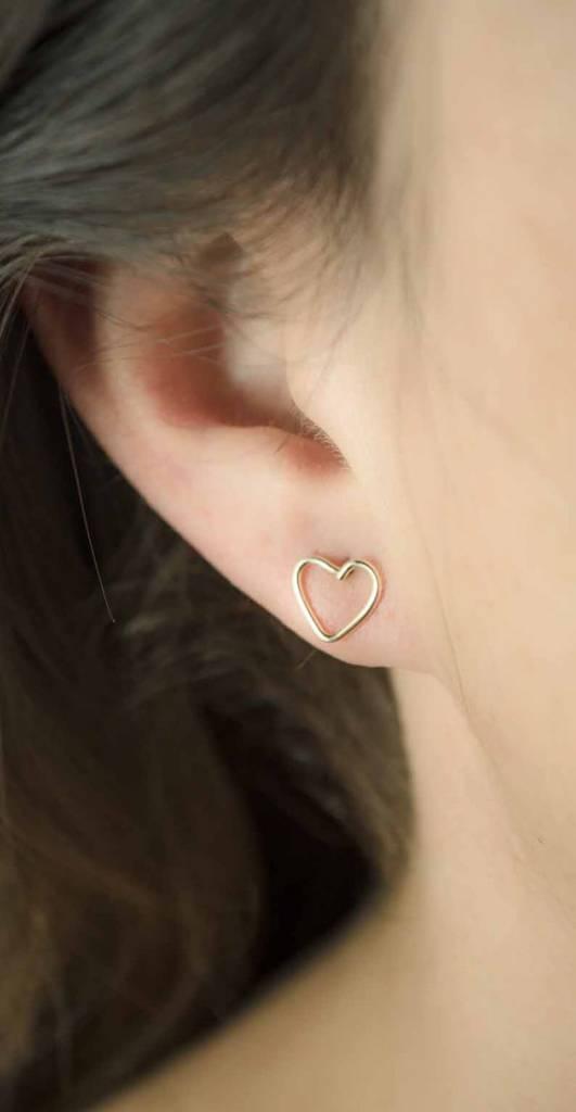 Lunai Heart Studs