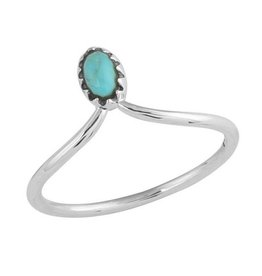 Midsummer Star Turquoise Point Ring