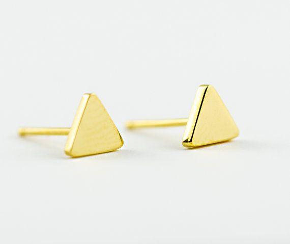 Lunai Triangle Stud Oorbellen