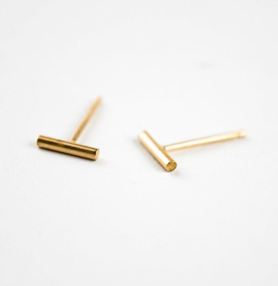 Lunai Mini Bar Earrings