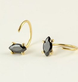 Lunai Black Zircon Hoops
