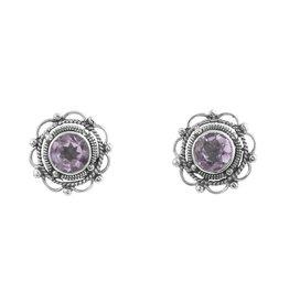 Midsummer Star Flower stone earrings