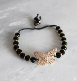 Boho Babes Majou Butterfly and beads bracelet