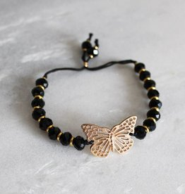 Boho Babes Majou Butterfly and beads bracelet