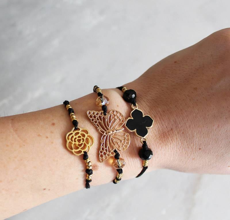 Boho Babes Majou Klaver armband