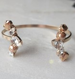 Melissa Kandiyoti Rosé Crystal bracelet