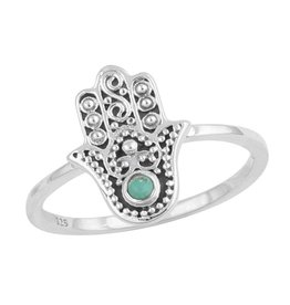Midsummer Star Hamsa Ring