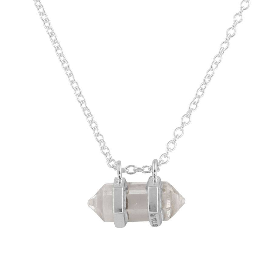 Midsummer Star Sunstone Crystal Necklace