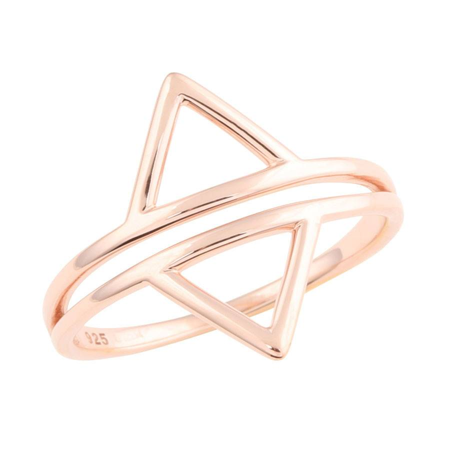 Midsummer Star Double Triangle Ring Rosé