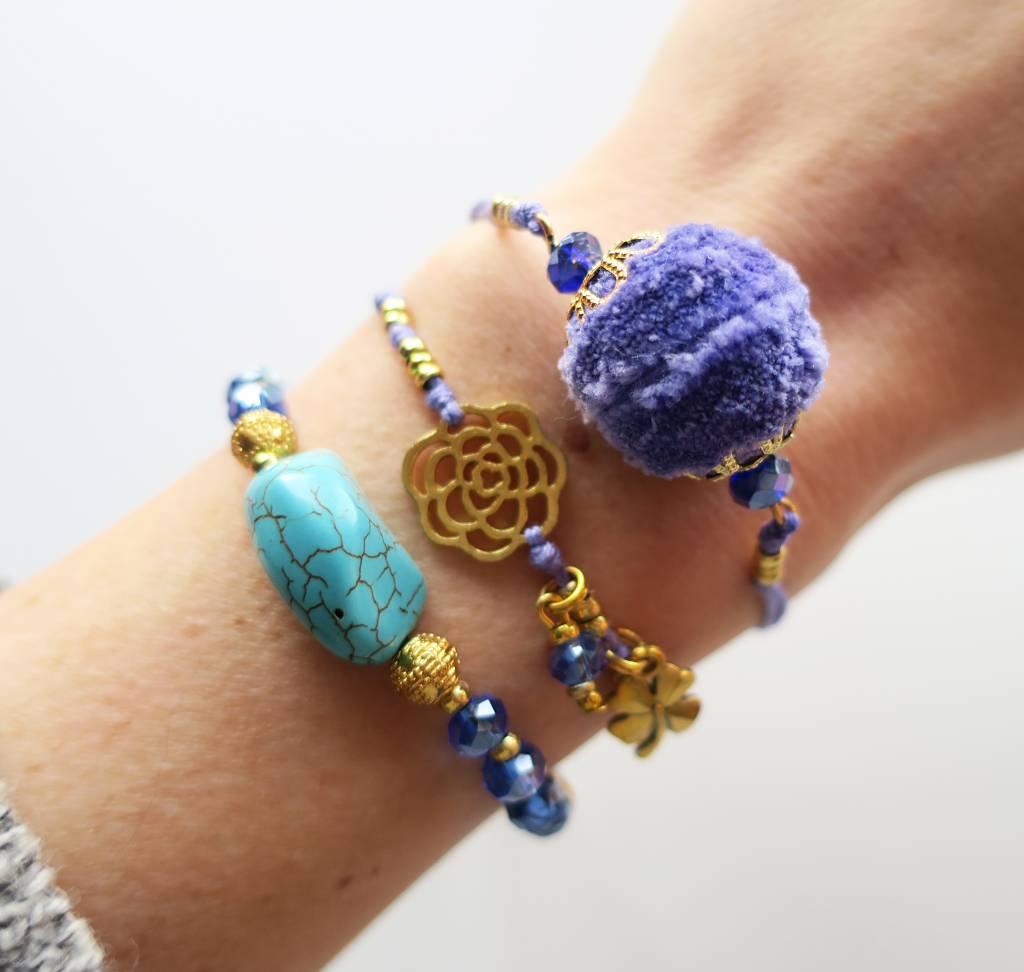 Boho Babes Majou Turquoise blauw armband