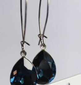 Melissa Kandiyoti Crystal Earrings Blue
