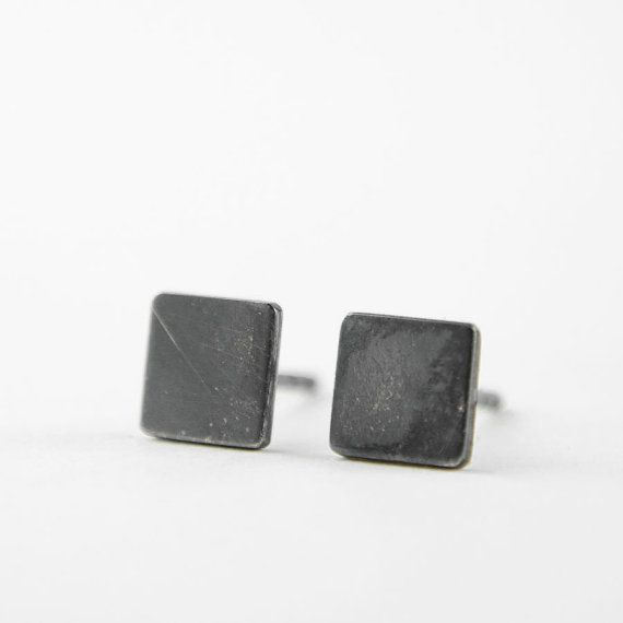 Lunai Square Stud Earrings