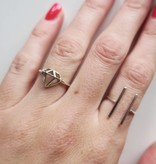 Midsummer Star Double bar ring Silver