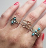 Midsummer Star Double Triangle Ring Turquoise