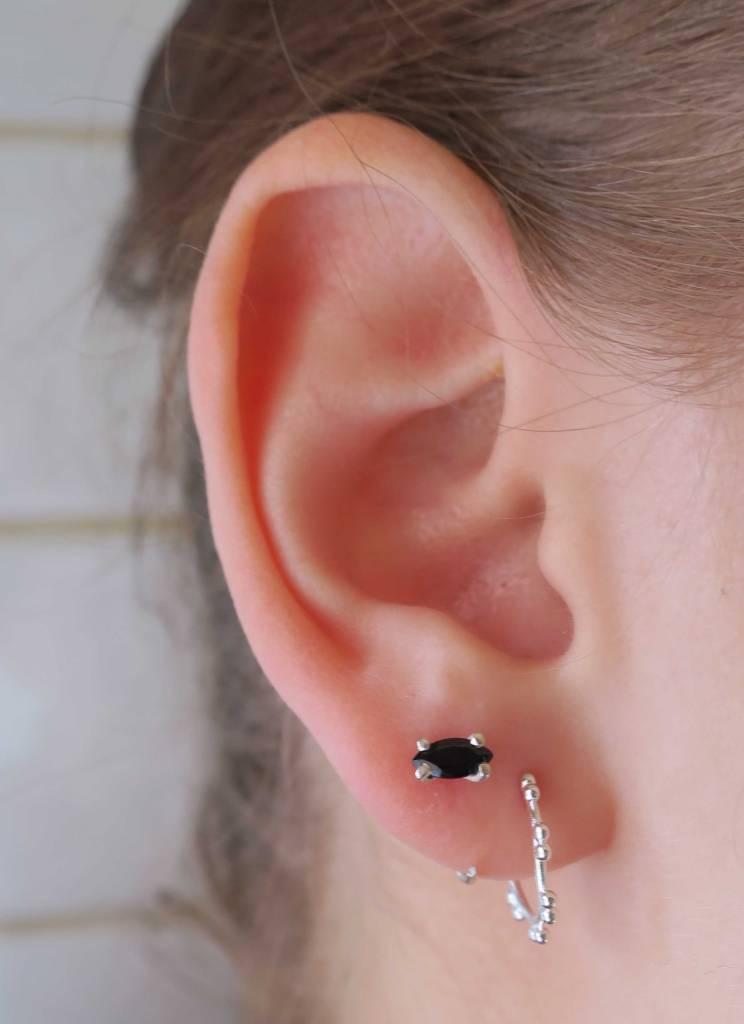 Lunai Hoop stud earrings