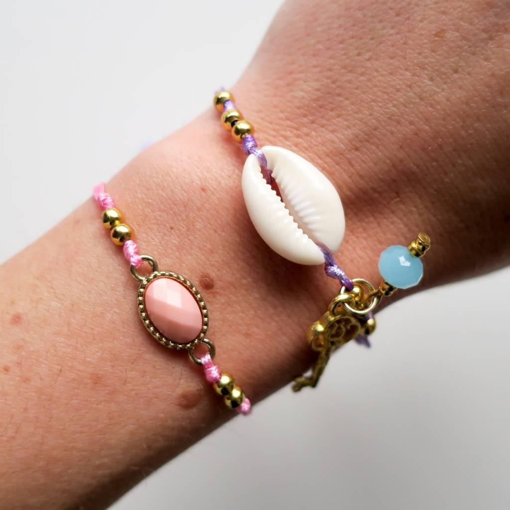 Boho Babes Pink Stone bracelet