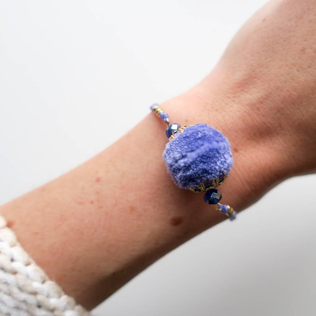 Boho Babes Pom pom armband
