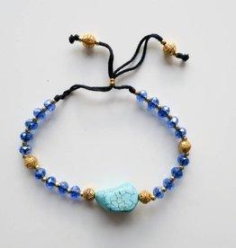 Boho Babes Majou Turquoise blue bracelet