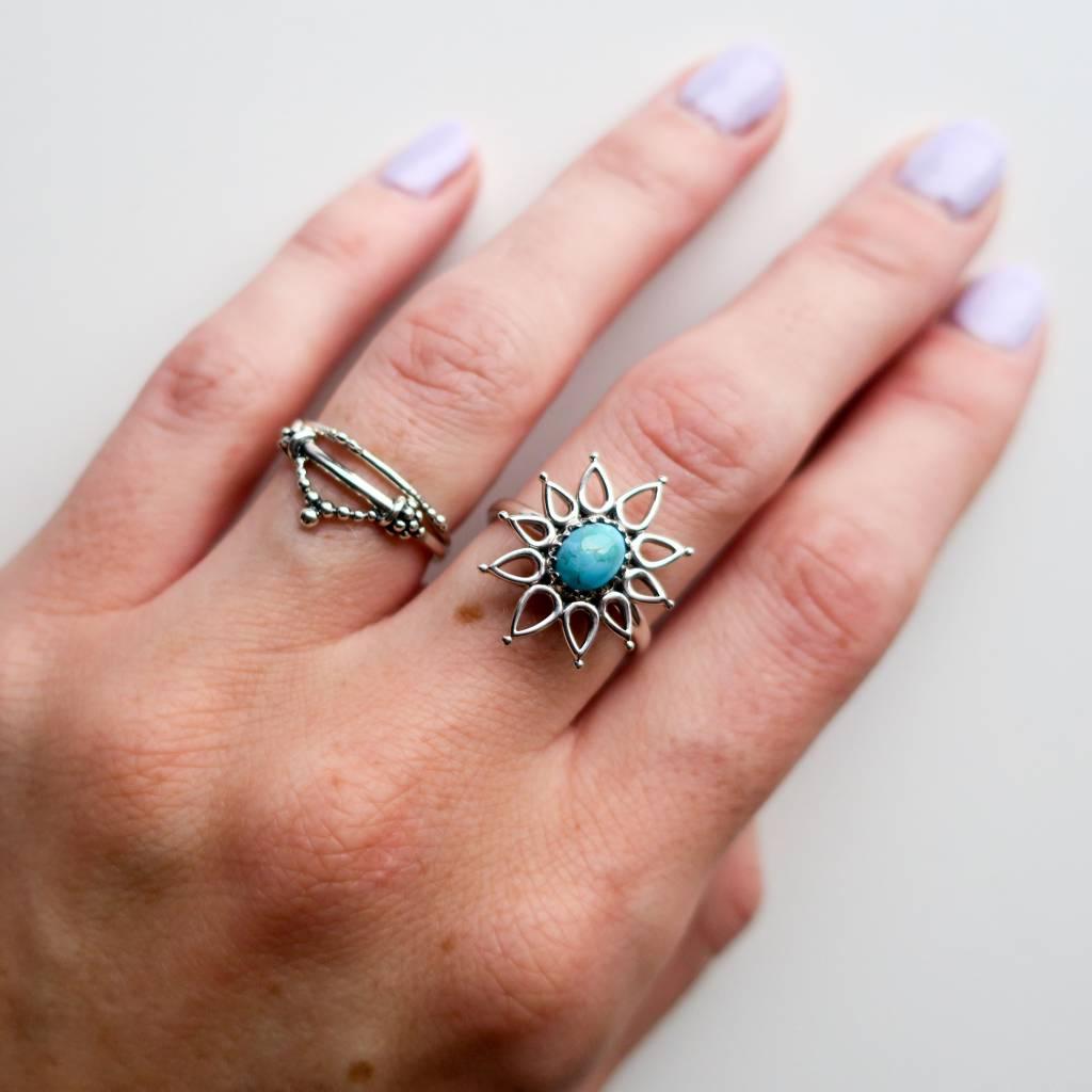 Midsummer Star Beaded Stacker Ring