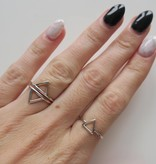 Midsummer Star Triangle Open Ring