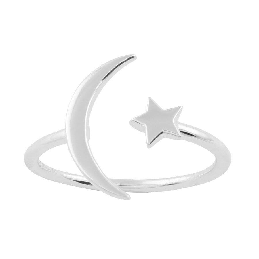 Midsummer Star Moon and star ring