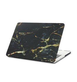 Macbook Case Black marble & gold