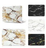 Macbook Case Black marble white