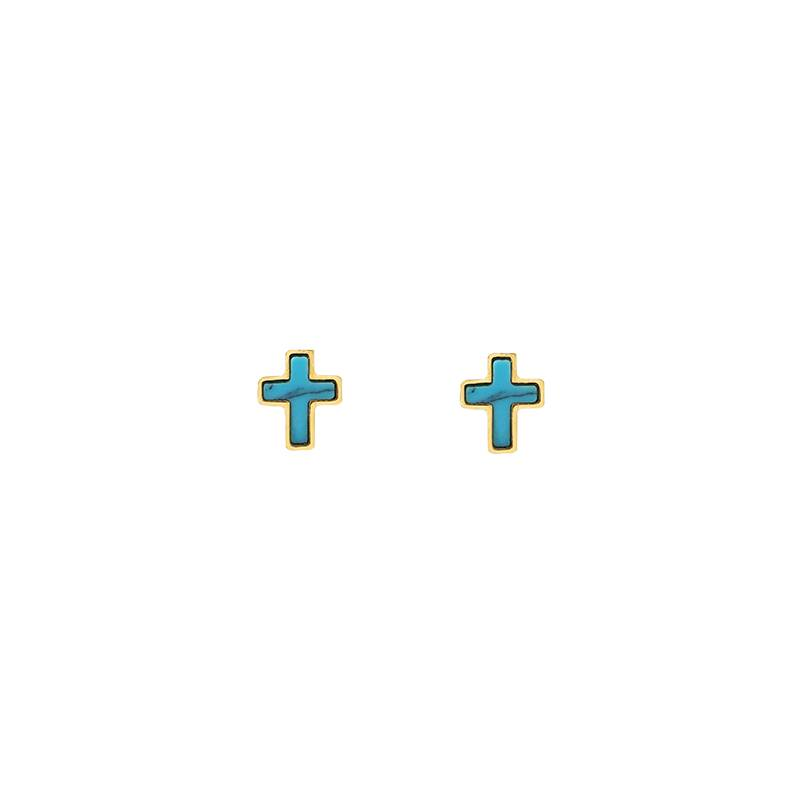 Boho Babes Earrings mini cross