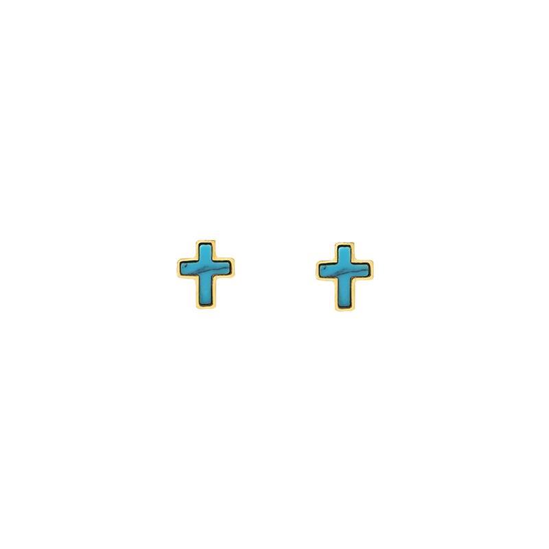 Boho Babes Oorbellen mini cross