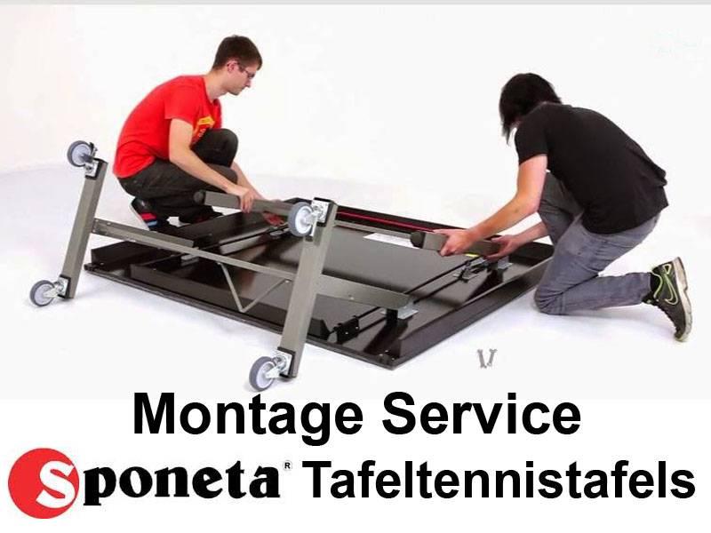 Montage Service Sponeta Tafeltennistafel
