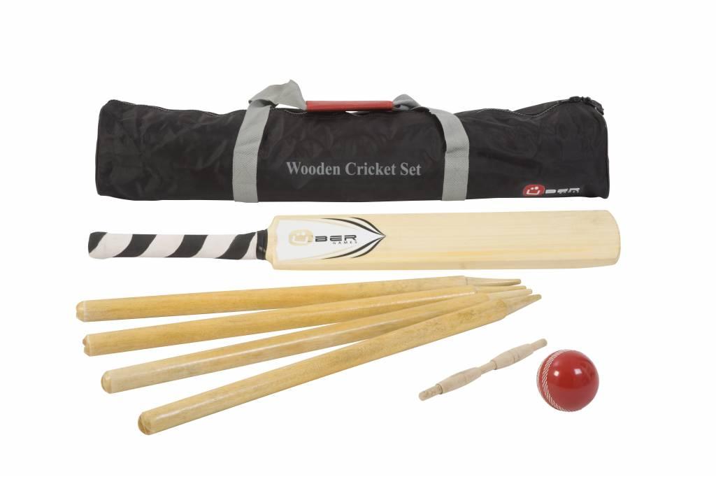 Ubergames Houten Cricket Set (maat 3)