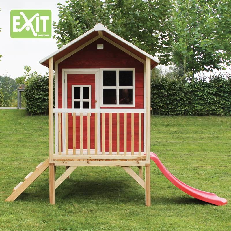 Exit Toys Speelhuisje Loft 300 (rood)