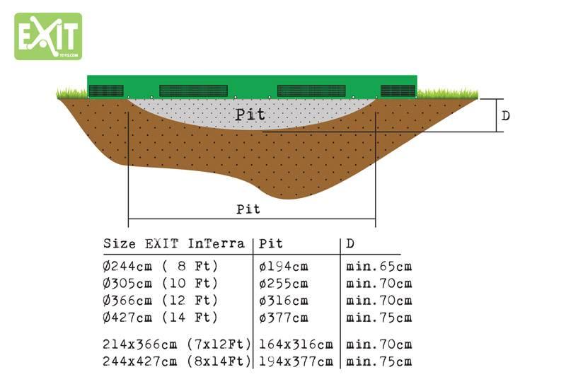 Exit Toys Trampoline Interra 214x366 (groen)