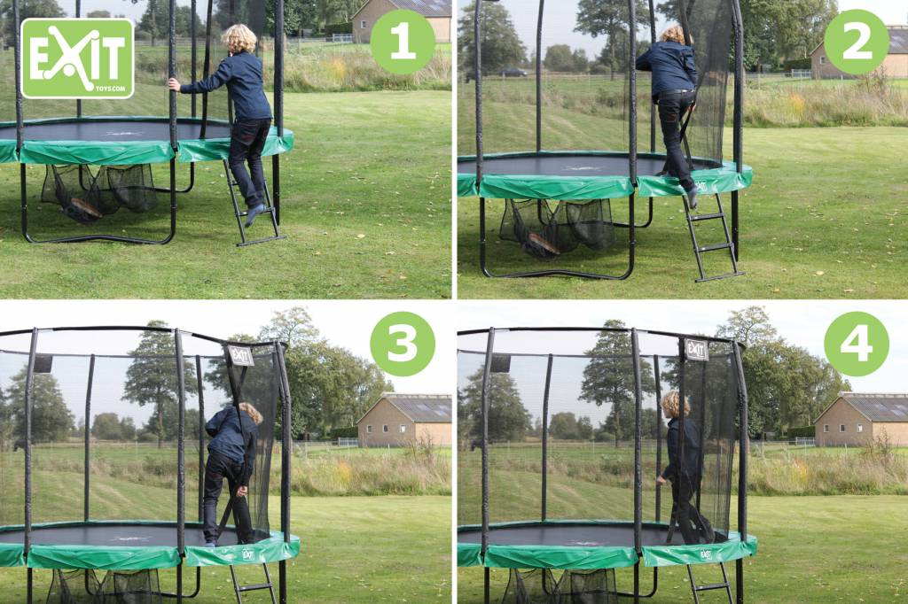 Exit Toys Trampoline Exit Ovaal All-in-1 244x380