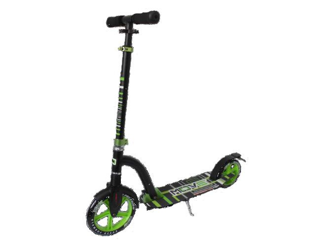 Move Step (grote wielen 23 cm) zwart/groen