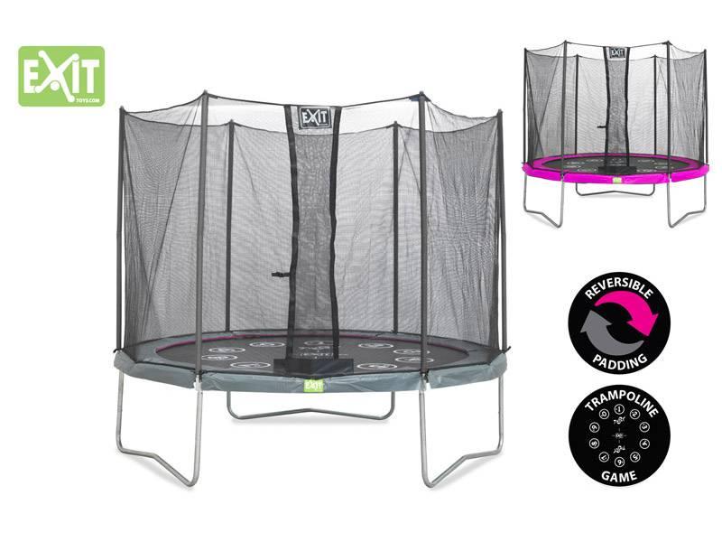 Exit Toys Trampoline Twist 10 ft (roze/grijs)