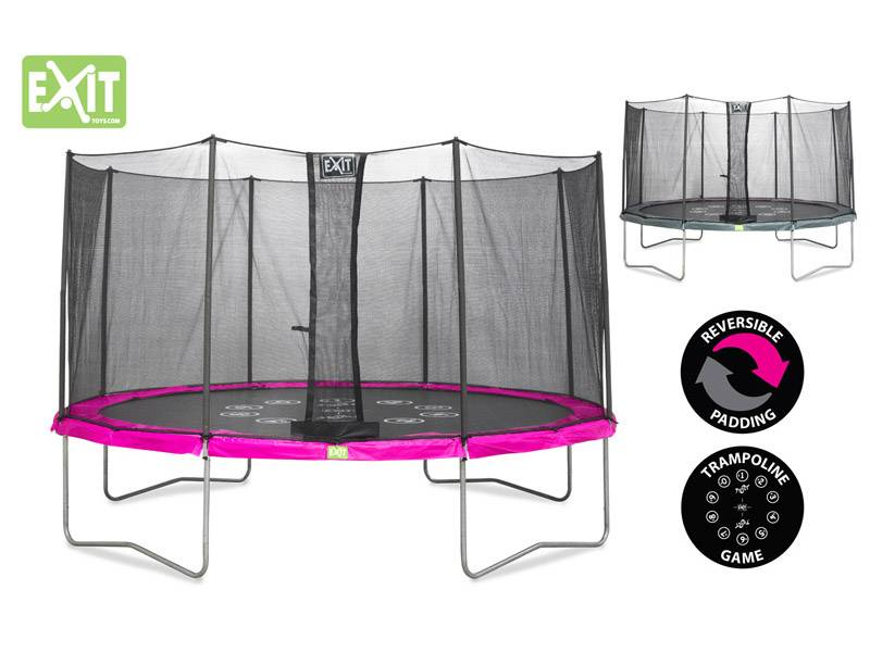 Exit Toys Trampoline Twist 12 ft (roze/grijs)